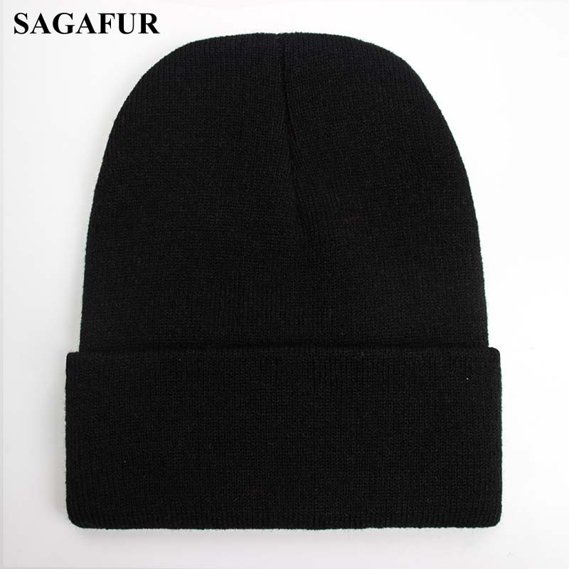 Image 4 - Solid Unisex Beanie Autumn Winter Wool Blends Soft Warm Knitted Cap Men Women SkullCap Hats Gorro Ski Caps 24 Colors Beanies-in Mens Skullies & Beanies from Apparel Accessories on AliExpress