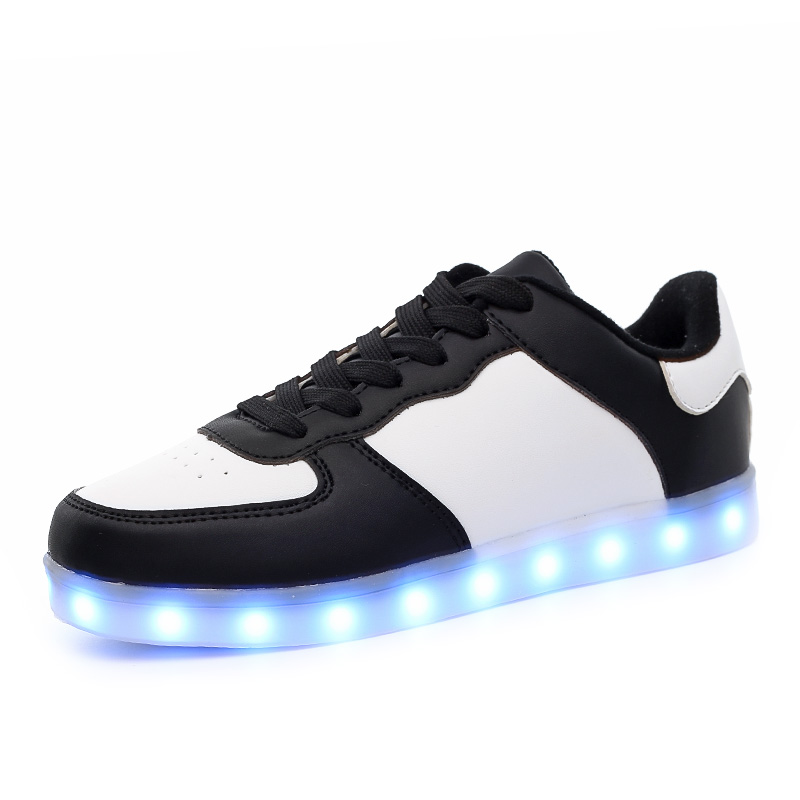 New 2017 Children Shoes 7 Colorful LED Lights With USB Boy and Girls - Children's Shoes