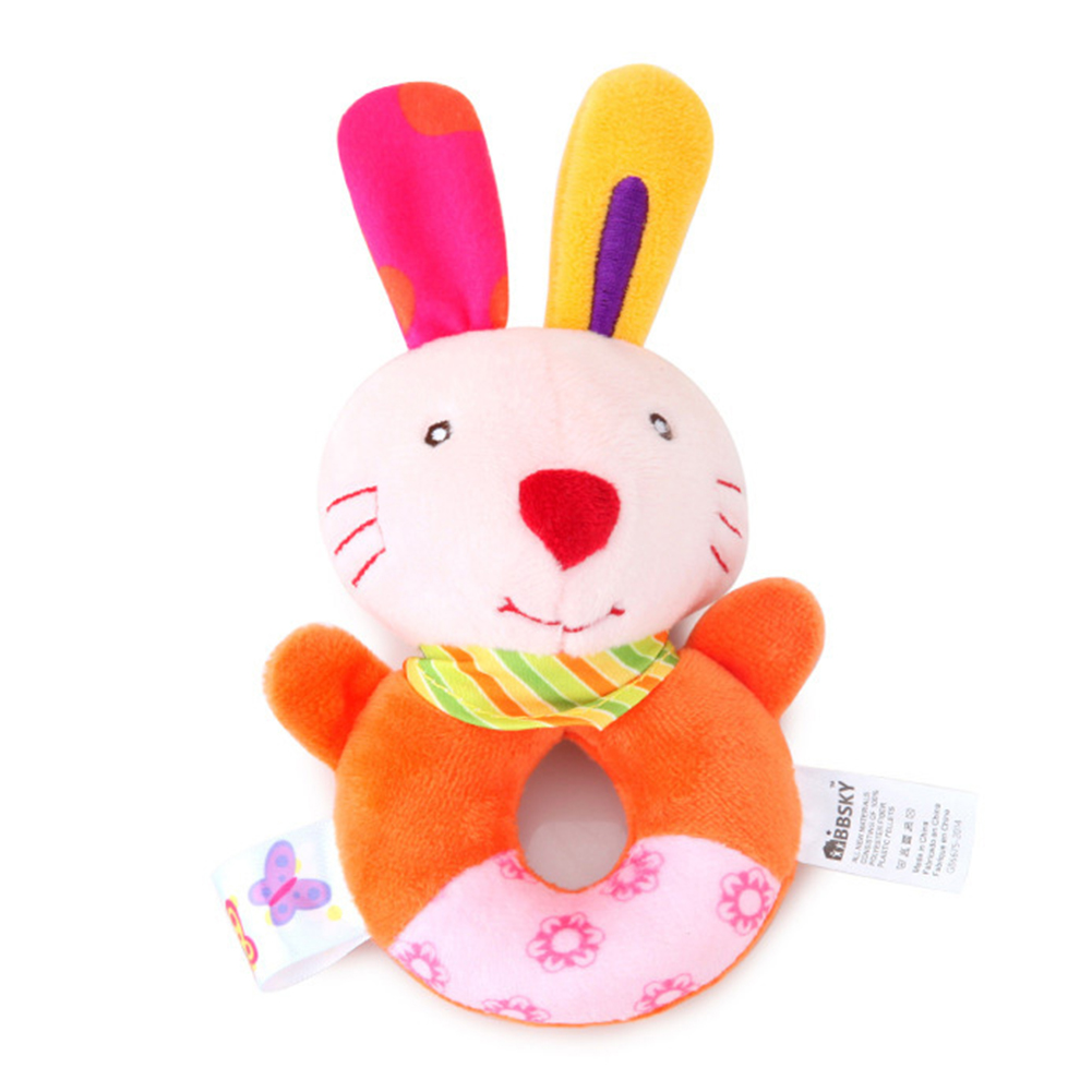 High Quality Newborn Infant Educational Toys Cartoon Infant Educational Toys  Baby Rattle Random Color Kids Gift Mini Toys