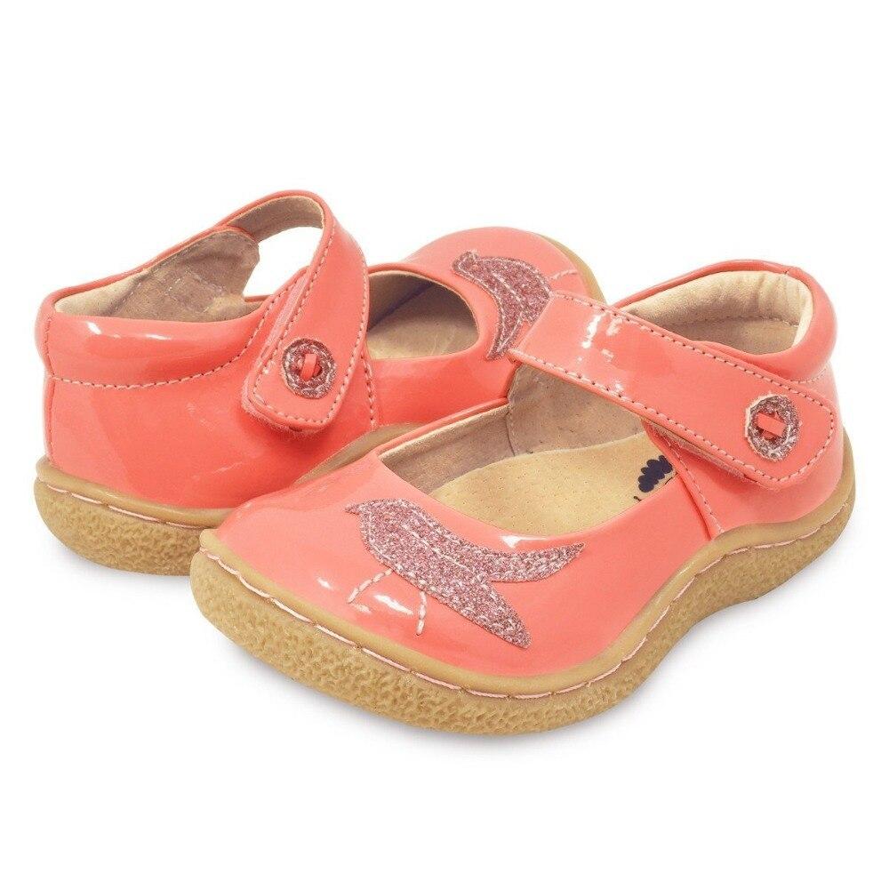 TipsieToes superior calidad de marca de cuero genuino niños niño niña niños zapatos de moda pies descalzos zapatillas Mary Jane envío gratis - 4