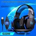 Each g2200 headbuds usb 7.1 surround gaming headset auriculares estéreo sistema de vibración auricular mic micrófono giratorio usb led