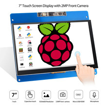 Elecrow 7 inch Touch Screen Display 1024X600 HD Capacity Touchscreen with Camera and Microphone for Raspberry Pi 3 2B B