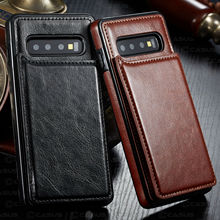 купить Leather Wallet Magnet Flip Case For Samsung Galaxy Note 10 Plus Card Slot Case For Samsung Galaxy S10 S9 S8 Plus Note 8 9 case в интернет-магазине