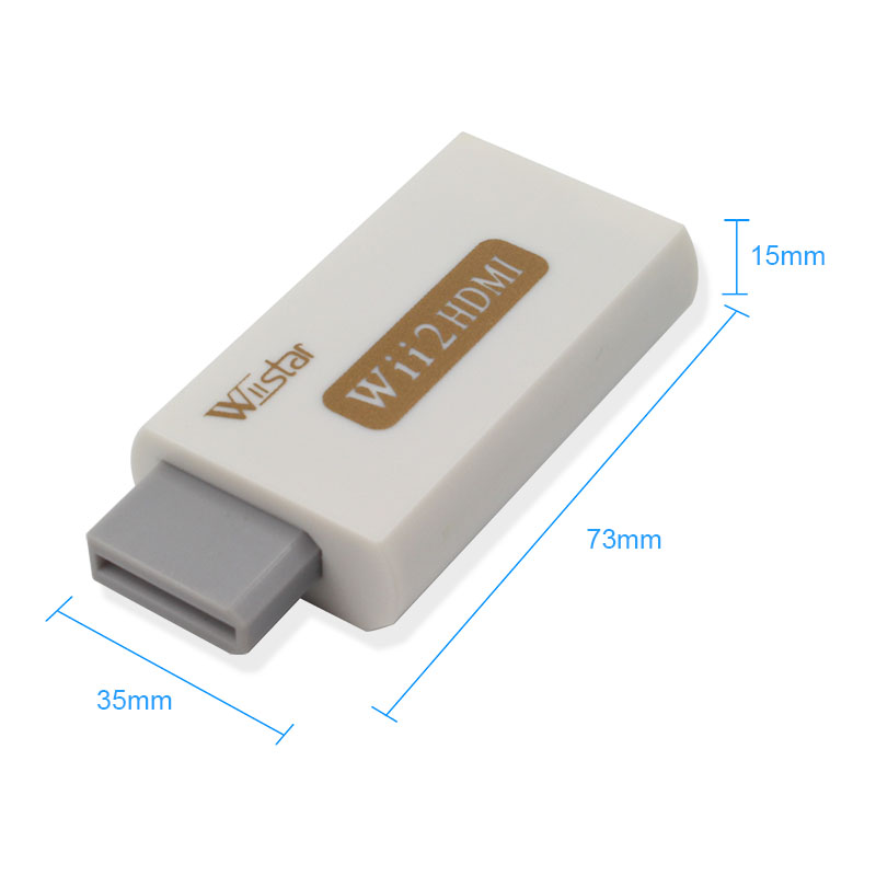 Wiistar Wii To HDMI Adapter Converter Support Full HD 1080P 3.5mm Audio Wii2HDMI Adapter For HDTV