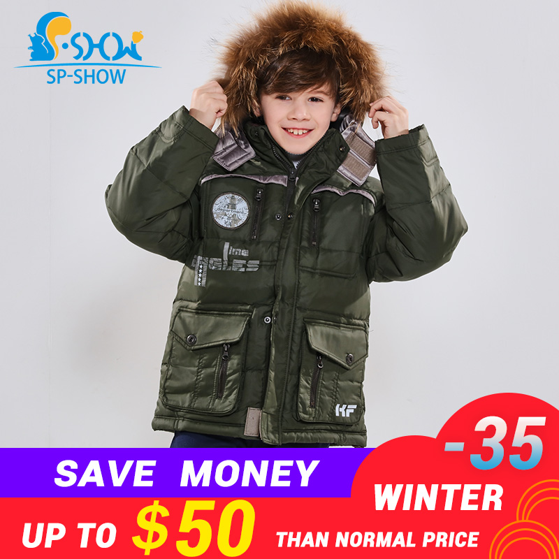 Winter Jaqueta Luxury Brand Boys Winter Jacket With Fur Hood Children Jackets For 6-12 Age Boy SPSHOW Down & Parkas 012Winter Jaqueta Luxury Brand Boys Winter Jacket With Fur Hood Children Jackets For 6-12 Age Boy SPSHOW Down & Parkas 012