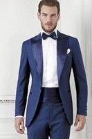 Bespoke New Wedding Groom Tuxedos Best Man Groomsmen Suit Business Party Tuxedo C81