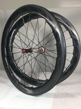 454 wheels carbon dimple wheels road bike wheel carbon bicycle wheeset clincher 454mm dimple wheels tubular 58mm wheelet