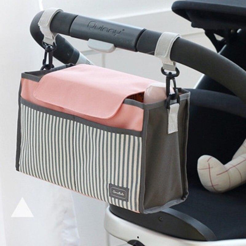 Мода Большой Ёмкость сумка тележка для мумии Водонепроницаемый полосы уличные Повседневные детские необходимости сумка для хранения