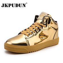 JKPUDUN Leather Men Boots Unisex Fashion Autumn Ankle Boots for Men High Top Win