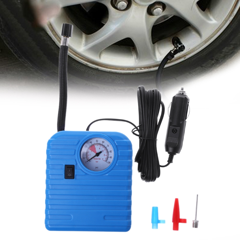DC 12V Auto Tyre Inflatable Pump Mini Emergency High Pressure Tire Inflator Air Compressor Qyh