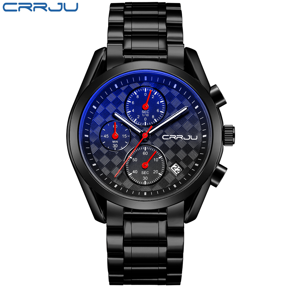 Chronograph Quartz Wristwatch Stainless Steel Men Watch Top Brand Luxury Military Relogio Masculino Waterproof Watches Mens