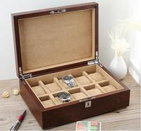luxury old elm tree 10 slot watch boxes wood watch storage box watch gift box for watches jewelry MSBH007e