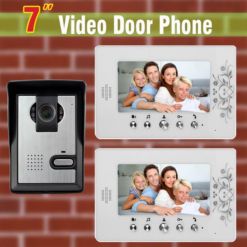 7 inch monitor Video Door Phone Intercom System night vision waterproof Camera Video Doorbell interphone kit