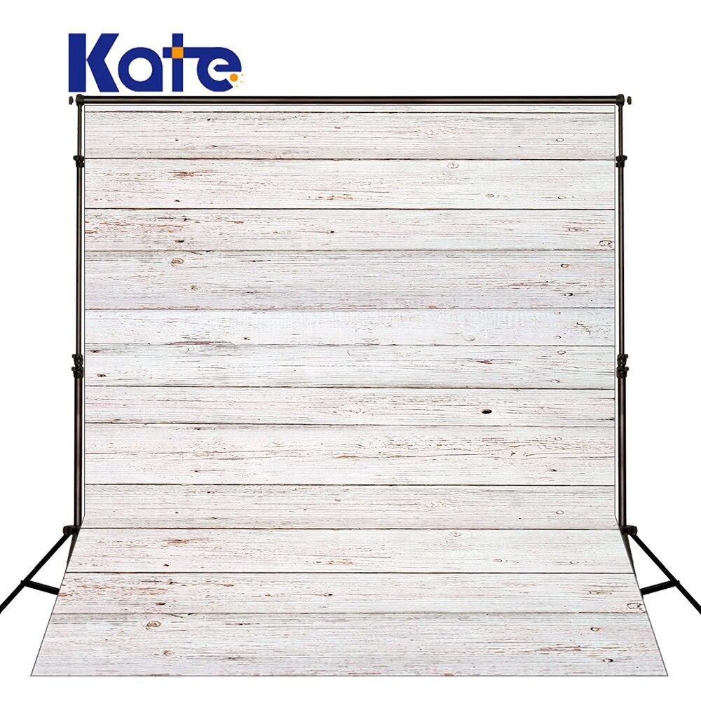 Kate White Retro Wood Background Photography Wall Village Photo Shoot Background Washable Microfiber Backdrop For Photography