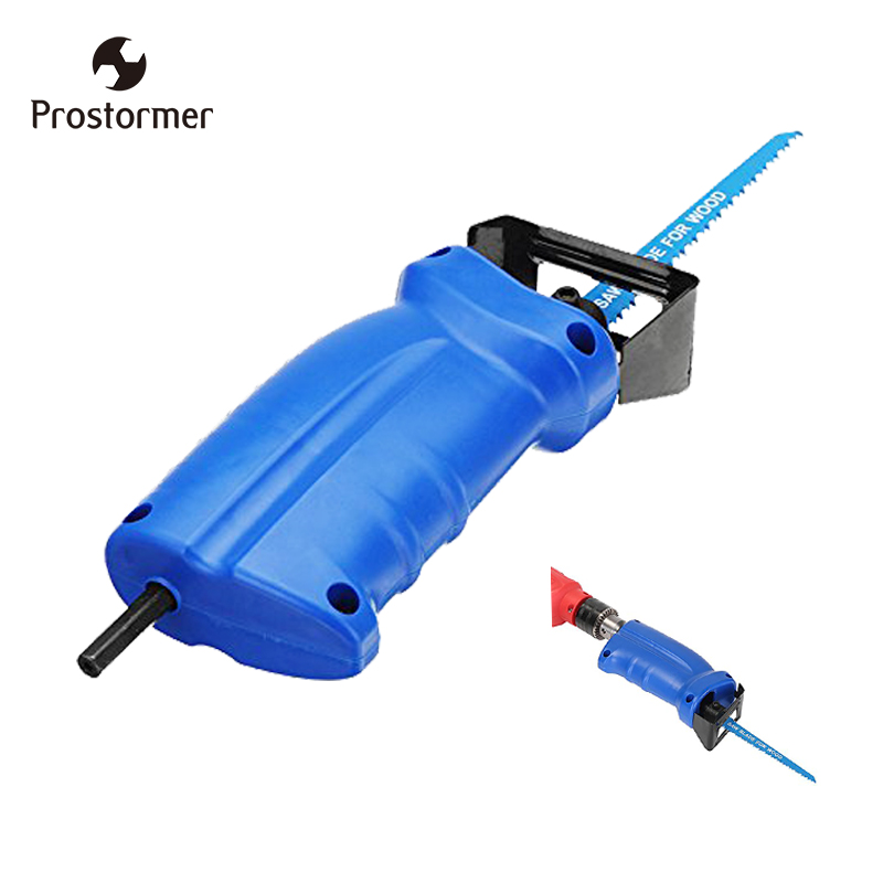 Prostormer New power tool accessories Reciprocating saw Metal Cutting wood Cutting Tool electric drill attachment with 3 blades