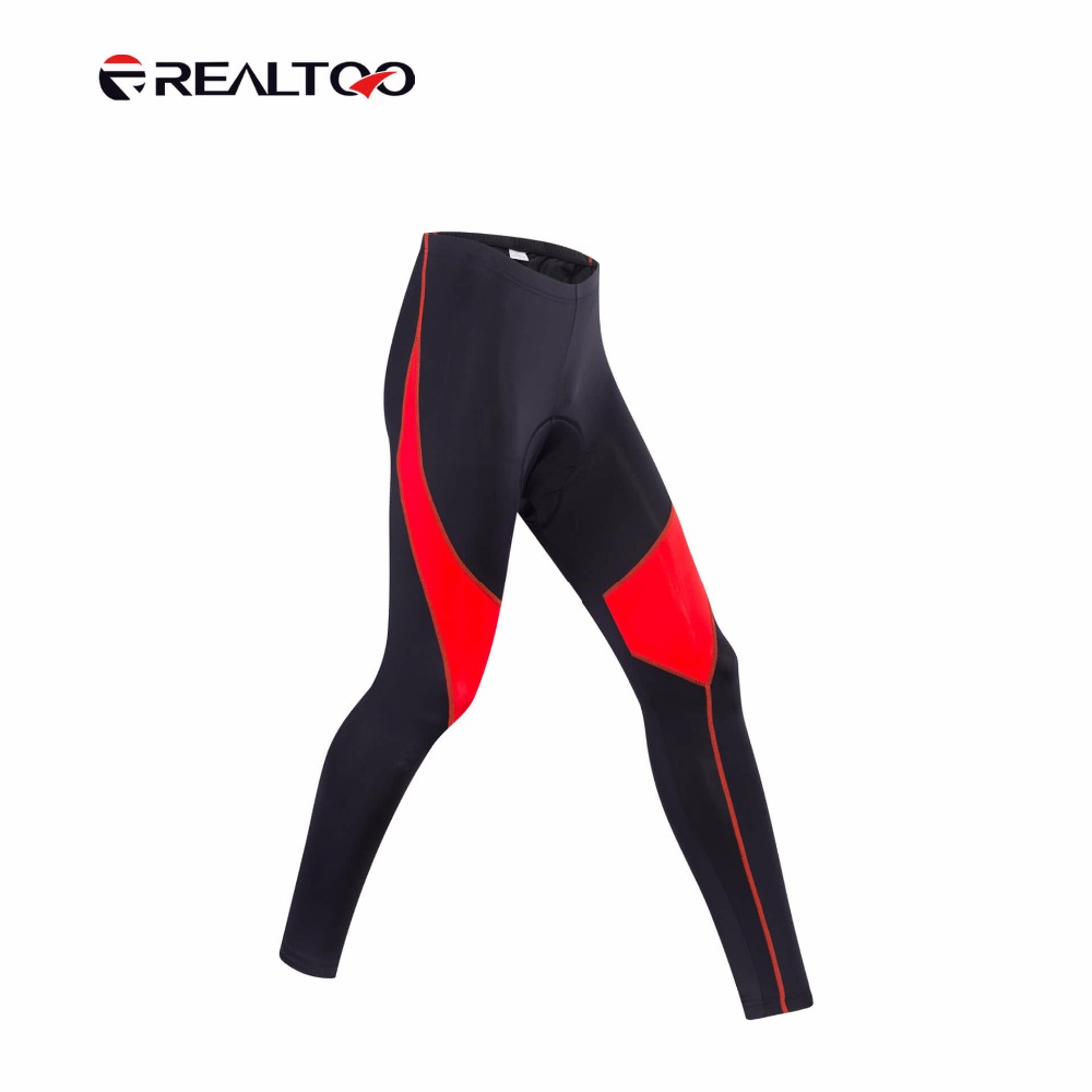 REALTOO Men Soft Thin Bike Bicycle Long Pants Quick Dry High Elasticity Cycling Riding Shorts Bike Profession Cycling Shorts