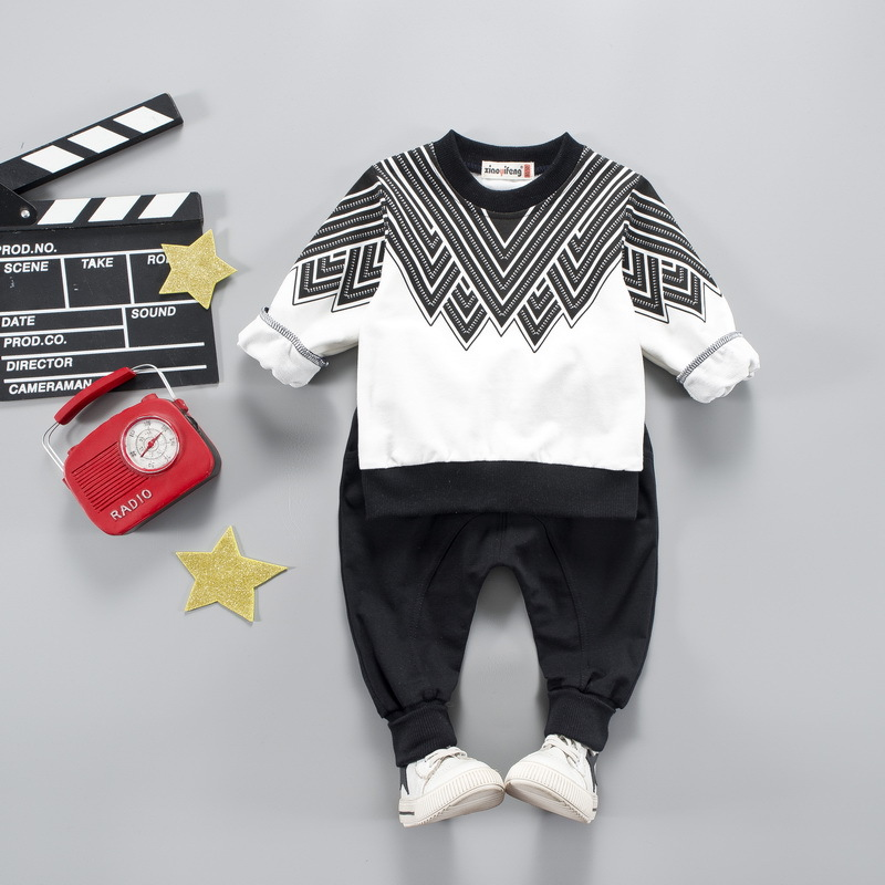 Baby Boys Girl Clothes Sets 2018 Fashion Costume For Boy Casual Kids Sport Suits Tracksuit For Boys Hooded Coat 6M-4 Year