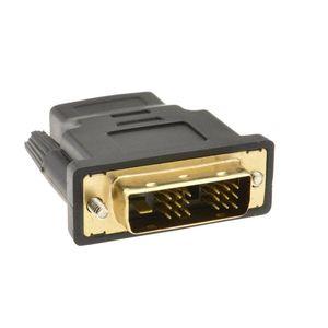 Image 4 - HDMI ソケットに 18 + 1 DVI D 男性プラグ変換アダプタゴールド