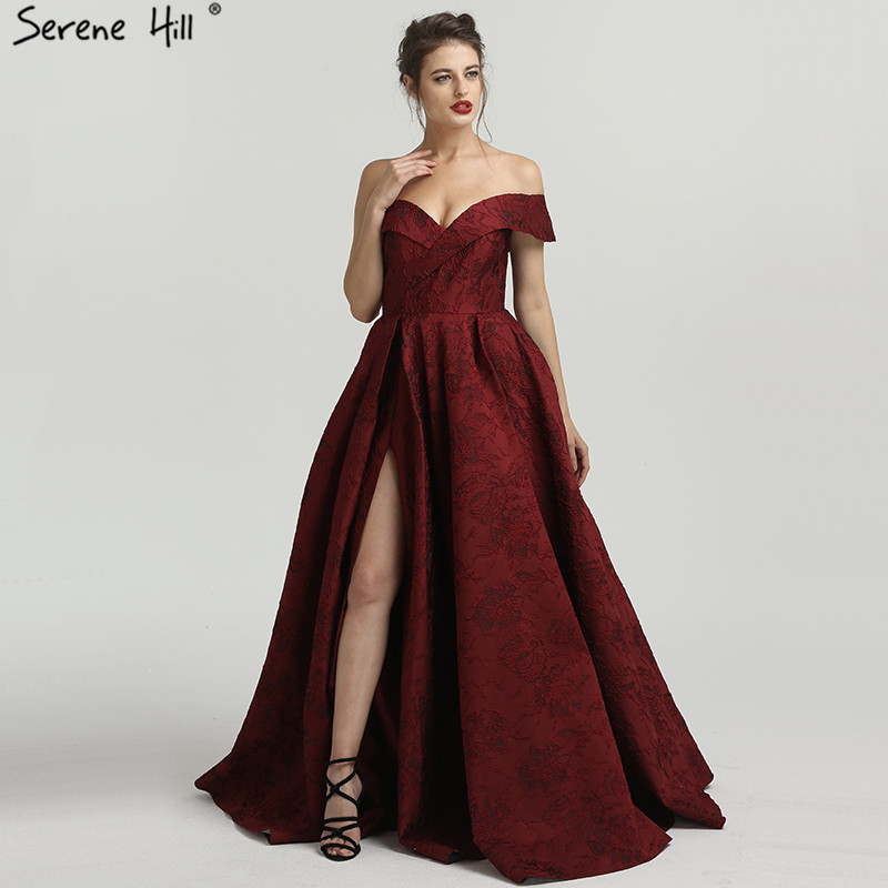 2019 Newest Elegant Formal Evening Dresses One-Shoulder Sexy Fashion Long Evening Gowns Serene Hill LA6485