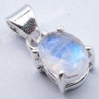 Muiltiple выбор Chanti Международный Серебряный огненный лунный камень нежный прекрасный 4 зубец кулон 1,8 см Бестселлер Инди