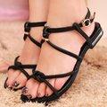 Genuíno couro de 2016 apartamentos NOVOS sandálias da moda as mulheres se vestem sexy chinelos sapatos calçados P1245 EUR venda quente tamanho 34-39 livre navio