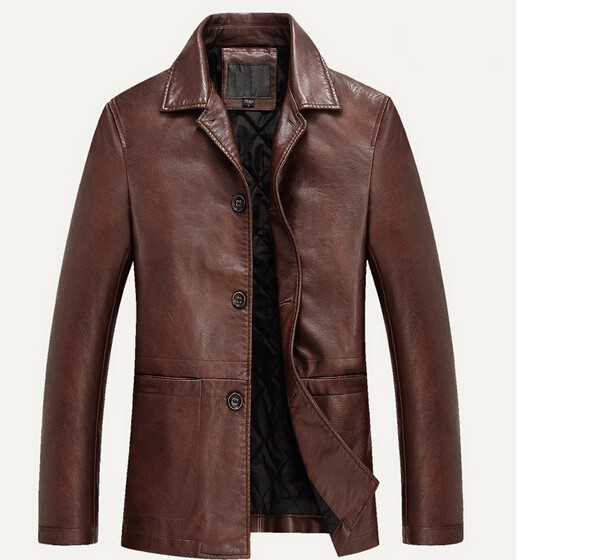 Fall-High quality Autumn /Winter Leather Clothing Men Leather Jackets Soft Sheepskin Business Casual Coats For Biker Jacket