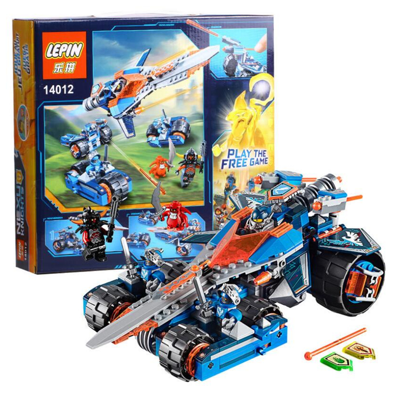 LEPIN 14012 Nexus Knights Clay's Rumble Blade Jestro Clay Building Block Scurrier Minifigures Compatible with 70315