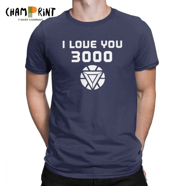 66df69288 I Love You 3000 Times Quote From Avengers Endgame T Shirts For Men Iron Man  Creative