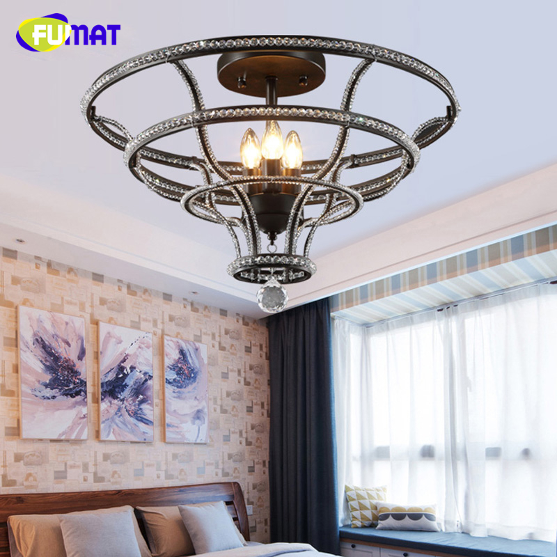 US $295.75 30% OFF|FUMAT K9 Kristall Deckenleuchten Europäischen Stil Kunst  Dekor Decke Lampe Wohnzimmer Schlafzimmer Loft Kristall Leuchten-in ...
