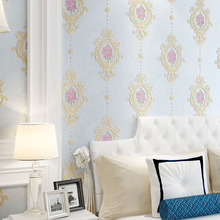 European Floral Wall Papers Home  Decor Non-woven Pink Flower Wall Paper Roll for Living Room Bedroom Walls Papel Mural behang romantic pastoral small flowers wallpaper non woven floral mural papel de parede bedroom wall paper for walls home decor jr057