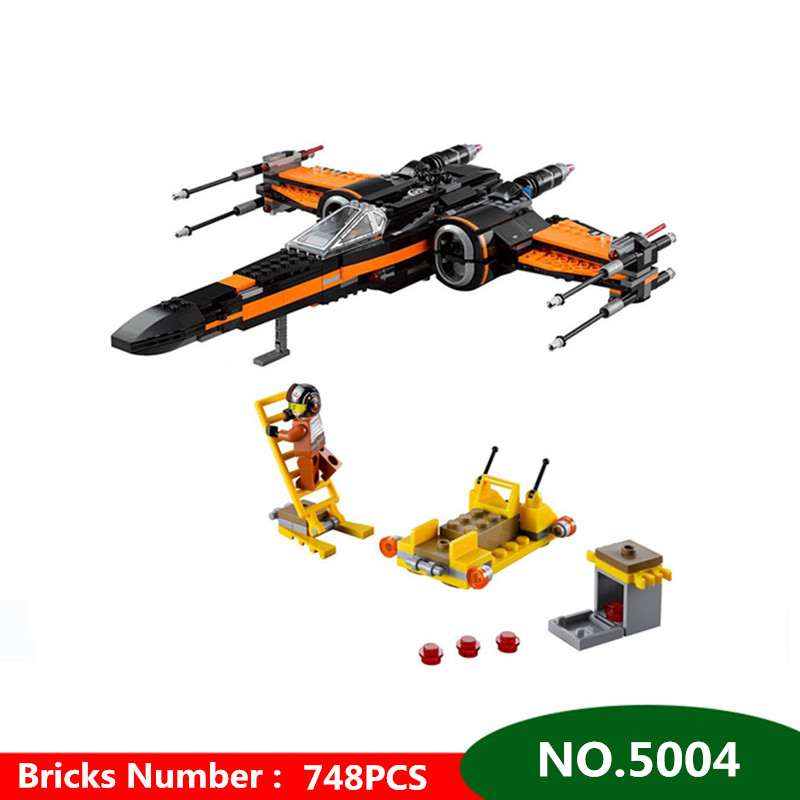 748pcs Diy Poe's X-wing Fighter Building Blocks Assembled bricks Compatible with Legoingly Star Wars X Wing Toys For Children black tree printed children teepee four poles kids play tent cotton canvas tipi for baby house ins hot foldable children s tent