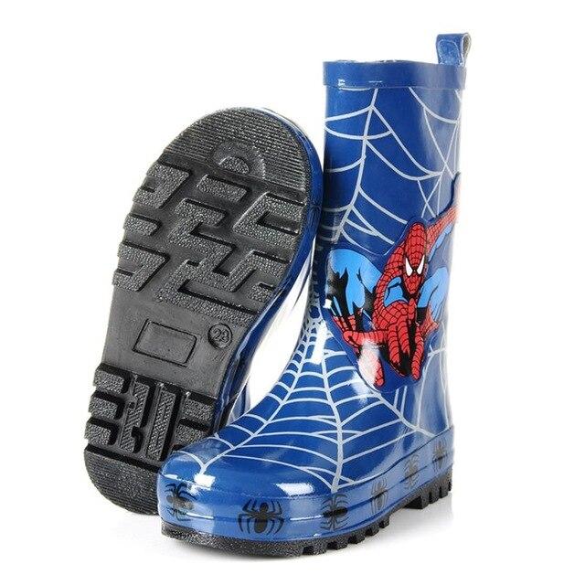 <font><b>spiderman</b></font> Cartoon <font><b>Rain</b></font> <font><b>Boots</b></font> <font><b>Kids</b></font> Antislip Big Children Rainboots Boys Knee-High Winter Keep Waterproof <font><b>Rain</b></font> <font><b>Boots</b></font>