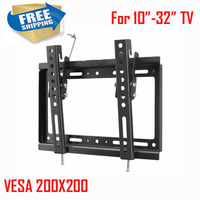 VESA 200x200 For 10 32 Tiltable Adjustable LCD LED PLASMA Tv Wall Bracket Mount Stand Holder