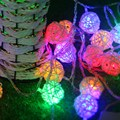 1.5m 10pcs LED Cotton Ball Light String Wedding Fairy Battery Lights Chandelier Garland Party New Year Christmas Decoration