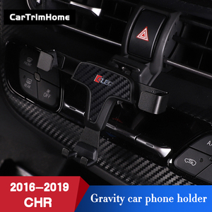 Image 4 - C hr Accessories Phone Holder For Toyota CHR 2016 2017 2018 2019 Gravity Mobile Cell Phone Holder c hr Air Vent Mount Stand