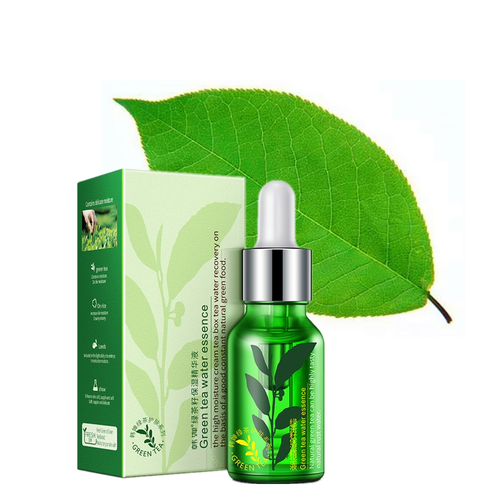 15ml Natural Green Tea Hyaluronic Acid Anti-Wrinkle Remover Cream Dark Circle Eye Essence Cream Anti Aging Eye Patches JY-62