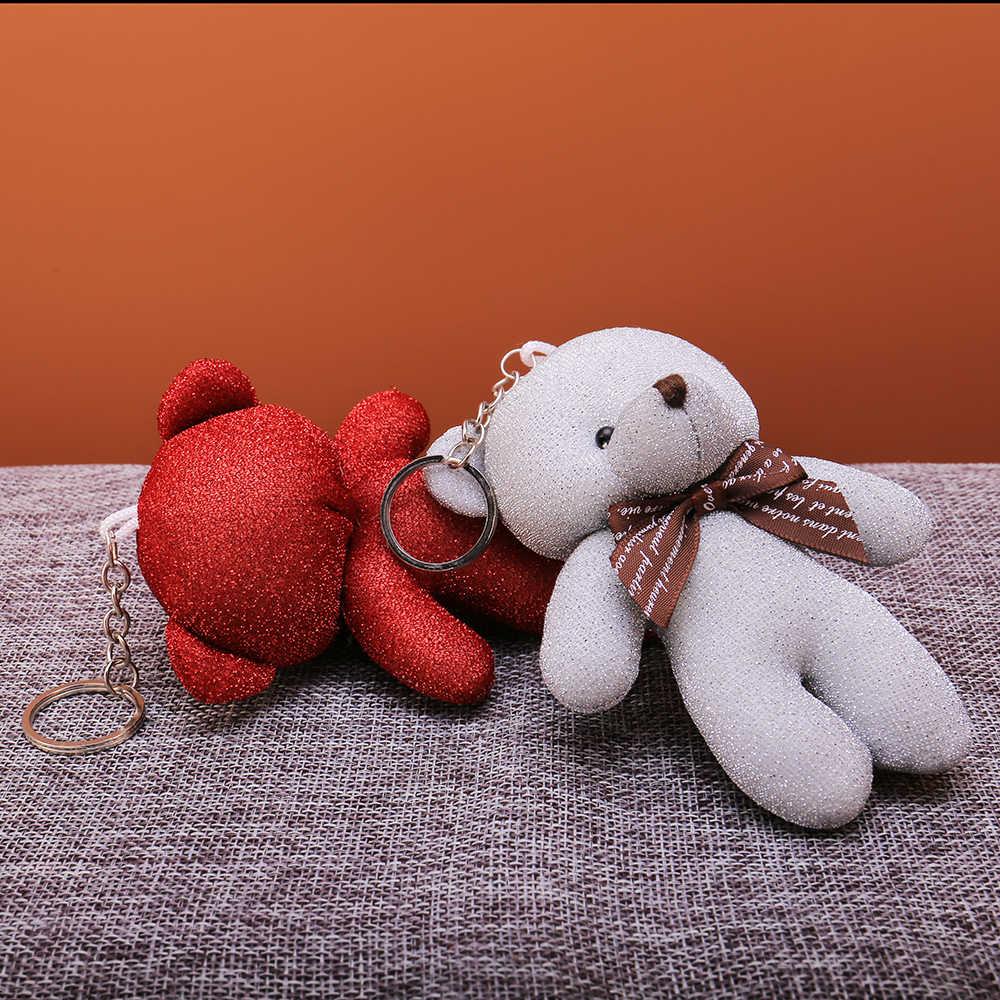 Llavero oso encantador oso líder Animal llavero cadenas mujeres niñas bolso coche encanto colgante joyería llavero joyería regalo 2019