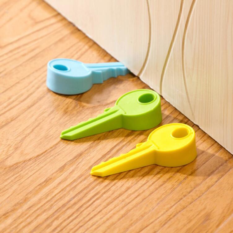 6pcs/lot Kids Baby Key Shape Door Stop Edge Corner Children Guard Door Stopper Holder Lock Safety Baby Finger Protecting Stopper