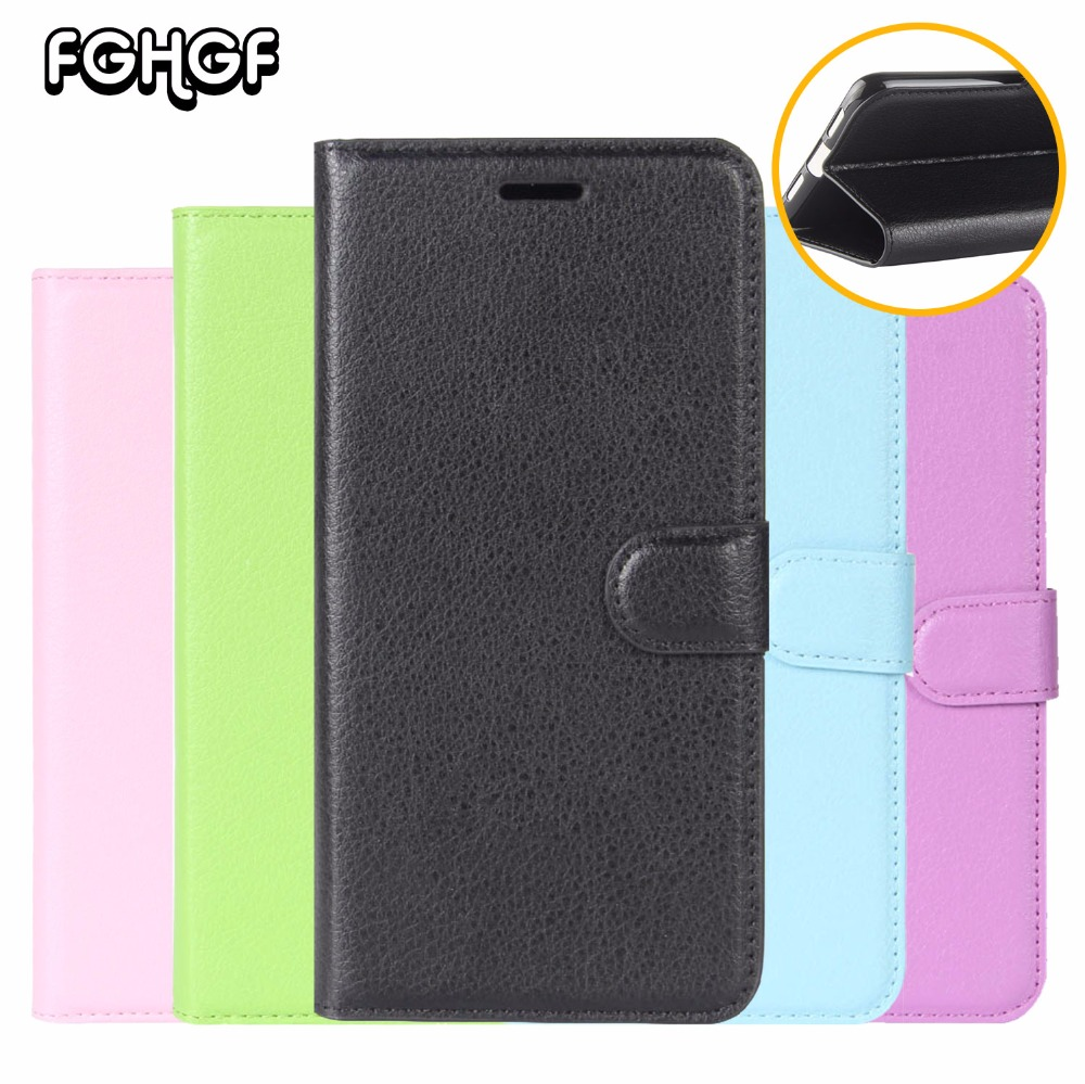 Cases For Doogee MIX 2 Case Litchi Stripes Leather Flip Wallet Cover For Doogee BL7000 BL5000 Case BL1200 BL1200 Pro FGHGF Cover