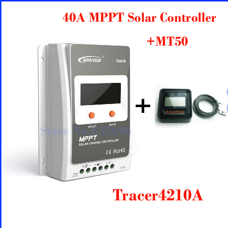 40A MPPT Solar Charger Controller LCD 12V 24V Auto Work EPEVER High Efficiency Regulador Solar with MT50 2400W 100V Solar Panel high efficiency solar cell 100pcs grade a solar cell diy 100w solar panel solar generators