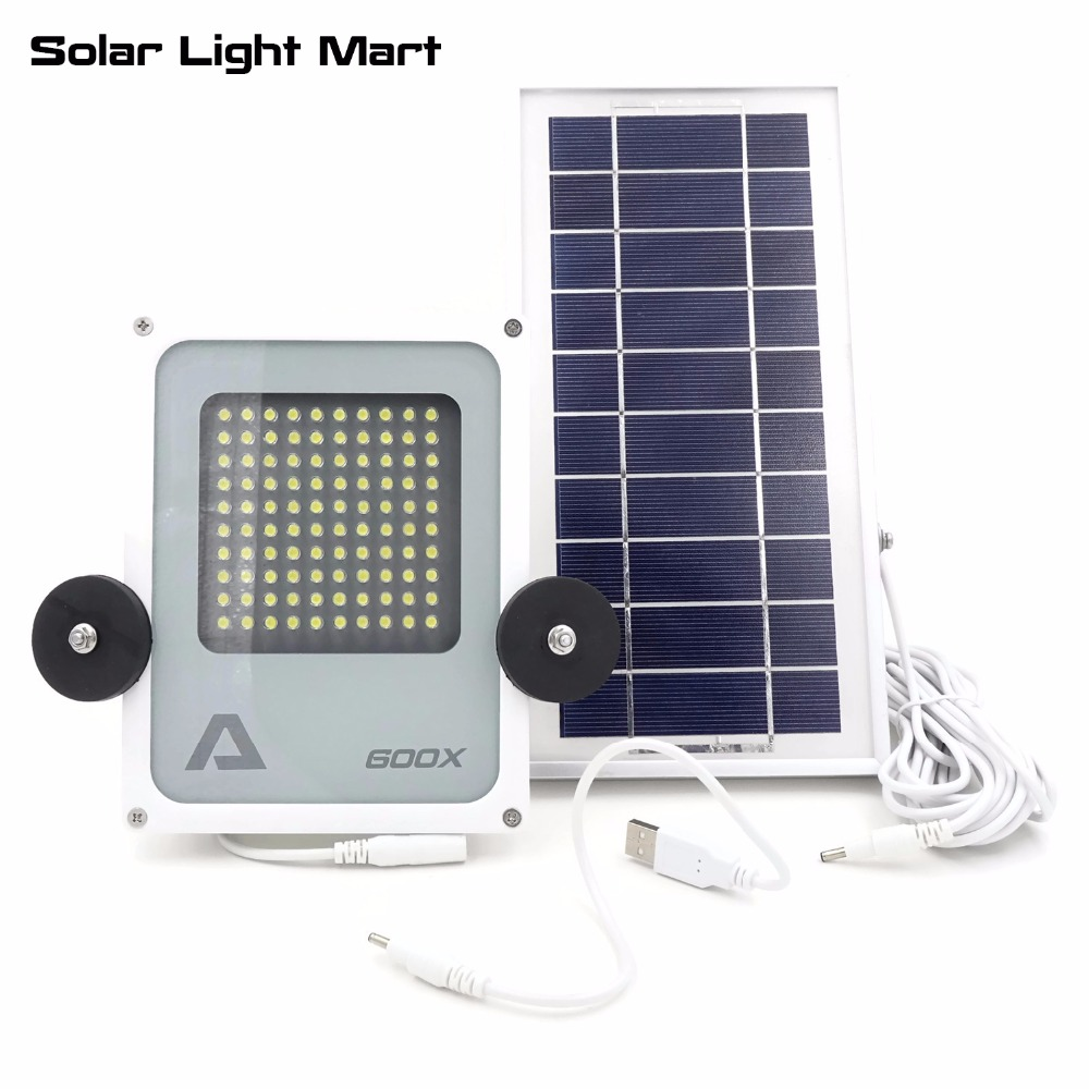 Alpha 600X Portable Waterproof 3 Power Mode Solar LED Work Light Camping Emergency Light with Magnet