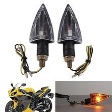 2pcs Motorcycle Arrow Shape Turn Signal Indicators Amber Blinker Light Universal 12V font b Motorbike b