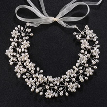 New handmade pearl crystal flower headwear wedding  heanband