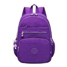 Купить с кэшбэком Waterproof Backpacks Women School Backpack for Teenage Girls Female Mochila Feminina Mujer Laptop Bagpack Travel Bags Sac A Dos