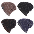 Unisex Casual Beanies for Men Women Fashion Knitted Winter Hats Male Striped Hip-hop Skullies Bonnet Cap Gorros Female Hat LZ103