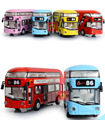 Kids Toys London Double-decker Bus Alloy Sightseeing Bus Model Pull Back With Sound and Light Gift for Children