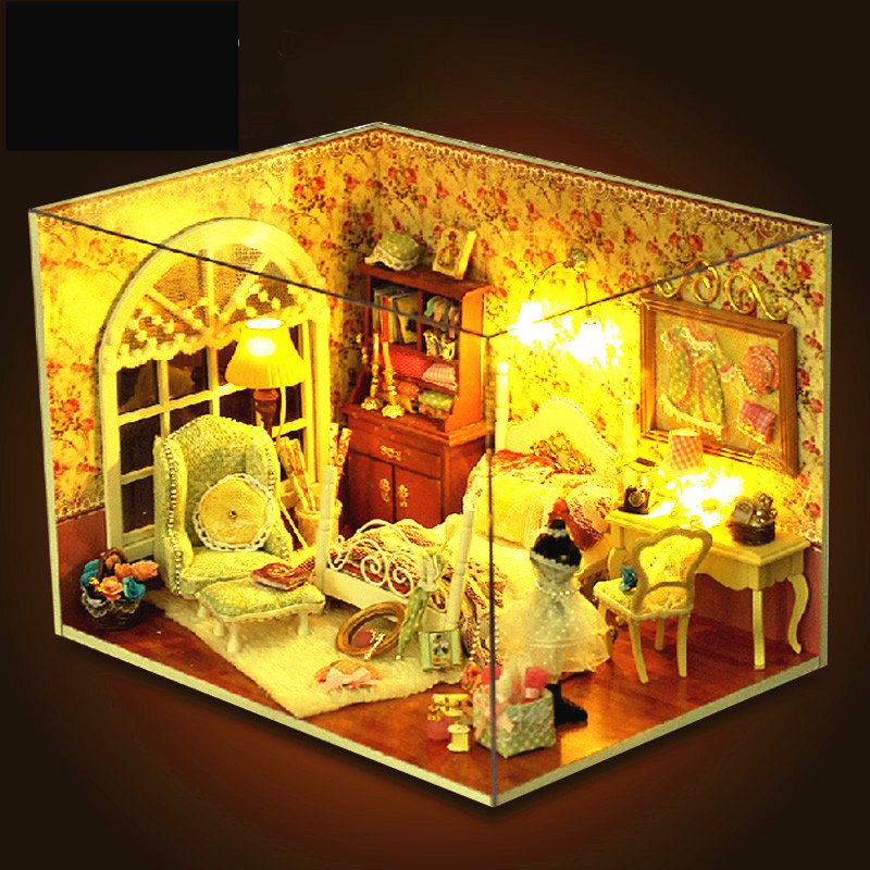 Sylvanian Families House DIY Miniatures Kids Toys Three-inch Sunshine Handmade House Valentine's Day Gift Juguetes Brinquedos