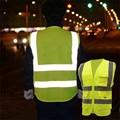 Chaleco Reflectante de alta Visibilidad Ropa de Seguridad Ropa de Trabajo Los Trabajadores Nocturnos para Noche Correr Correr Ciclismo
