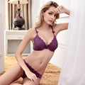 New Brand Vs Secret Women Push Up Bra Set Deep V Sexy Lace Bra And Panty Set Adjustable Type Underwear Lingerie Sets