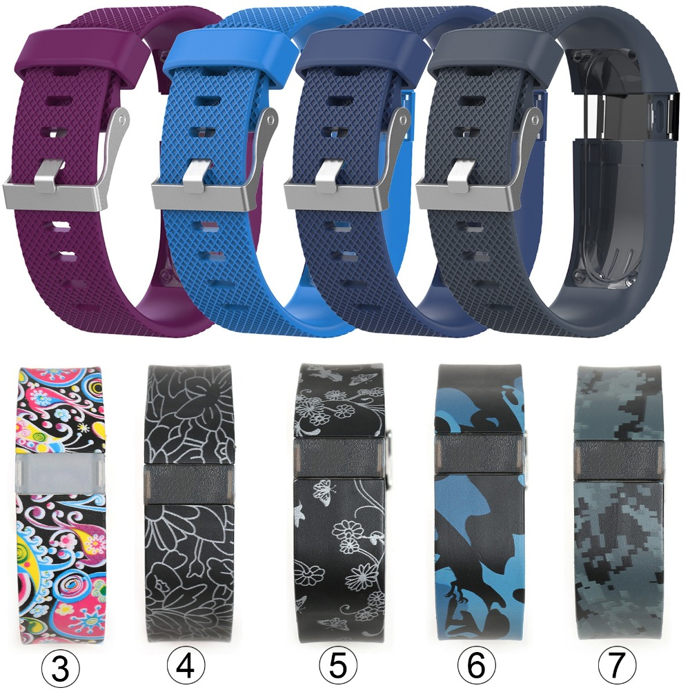 15Colors Replacement Wrist Band Watch Strap For Fitbit Charge HR Watchbands Wireless Activity Tracker Metal Buckle WristBand Hot